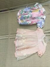 Lot Of 2 VTG Party Look Originals & Baby Togs Dresses 12-18 Mos