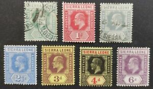Sierra Leone 1907-12, 7x stamps mh & used