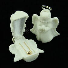 Luxury Angel Velvet Jewelry Rings Necklace Display Box Gift Container Case