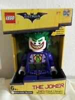 Batman Movie The Joker Kids Minifigure Alarm Clock (Purple/Green) 9.5in tall