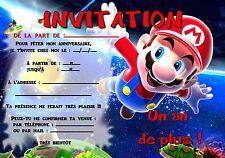 5 ou 12 cartes invitation anniversaire  MARIO ref 295
