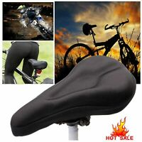 Bike Seat Cover Bicycle Saddle Extra Comfort Padding Soft Gel Cushion Gym Sores
