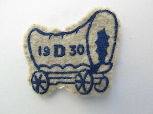 Vintage late 1920's/early 1930's Boy Scout patch - while felt Camp patch 1930