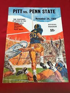 1962 Nov 24 Pittsburgh Panthers versus Penn State Nittany Lions Program *PL1