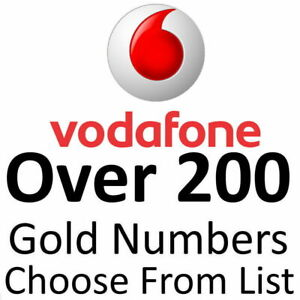 VODAFONE GOLD VIP BUSINESS EASY MOBILE PHONE NUMBER DIAMOND PLATINUM SIM CARDS