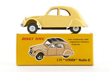 Lot 180910 Dinky Toys 558 Citroën 2 CV, hellgelb, Druckguss, 1:43, OVP, Replica