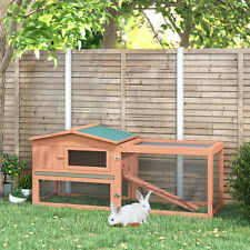 Wooden Rabbit Hutch Bunny Cage  Guinea Pig House Pet Supply