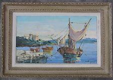Tableau peinture HST huile sur toile ANTIBE  VIGON Louis-Jacques, 1897-1985