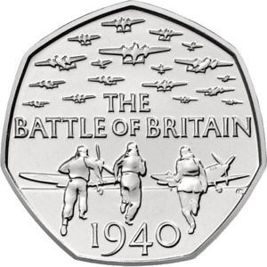 2015 50P COIN THE BATTLE OF BRITAIN 5TH PORTRAIT (FREE DELIVERY)