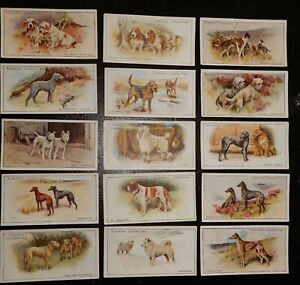 John Player Cigarette Cards - Dogs 1925 (15 cards)