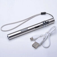 LED Pocket Flashlight Lamp Torch Pen Size Q5 USB Rechargeable 500lm CHI