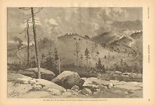 Marshall Pass, CO. The Great Loop, Denver & Rio Grande Railroad, 1888 Art Print
