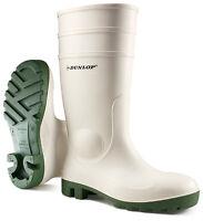 Dunlop Protomastor White Waterproof Work Safety Wellington Boots Steel Toe Cap