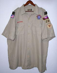 BOY SCOUTS Of America VENTED Uniform Shirt BSA #206 Scout Adult Mens : 2XL XXL