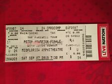 Peter Frampton Farewell Tour Ticket Stub From Tampa Florida 2019