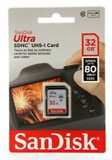 SanDisk 32GB Ultra SDHC SD Card Class 10 UHS-I Memory Card 80MB/S For Camera-UK