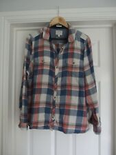 Fat Face: Ladies Long Sleeve Check Shirt; size 18, 100% cotton.