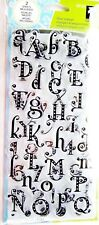 Gemstone Alphabet Clear Acrylic Stamp Set by Inkadinkado Stamps 99107 NEW!