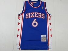 NWT Julius Erving #6 Philadelphia 76ers 1982-83 M&N Throwback Jersey Blue