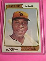 1974 Topps 250 Willie McCovey HOF San Diego Variation ExMt No creases