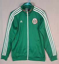 Adidas Mexico Track Jacket Green Red Federacion Mexicana NWT Kids XL-Men's Med