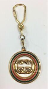 Auth Vintage GUCCI KEY HOLDER, GG Logo Key Chain, Keyring, Signed, Excellent