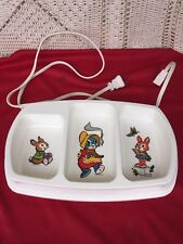 Vintage Baby Beatrix Potter Rabbits Divided Tray Evenflo Electric Food Warmer