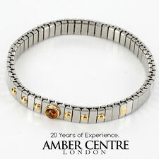 NOMINATION ITALIAN BRACELET WITH BALTIC AMBER in 18ct GOLD BAN130 RRP£245!!!