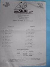 Teams A-B Aberdeen League Cup Final Football Programmes