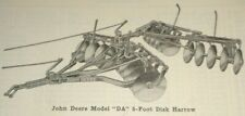 John Deere D DA Disk Harrow Parts Catalog Manual Book Original! JD PC-23B