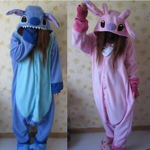 Unisex Adult Stitch Pajamas Kigurumi Anime Suit Halloween Xmas Dresses Sleepwear