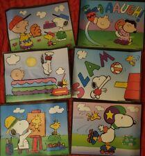 Lite Brite 1998 Hasbro Peanuts Picture Refills FIVE lite brite picture refills