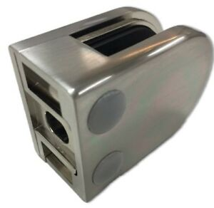 Zintec (Stainless Steel Look) Flat Back Glass Clamp - For Glass Balustrade 10mm