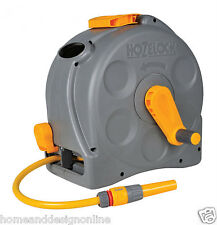 Hozelock 2415 2in1 Compact Enclosed Hose Reel Standing Wall Mounted Hoze