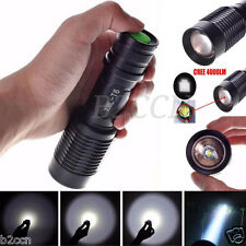 4000 Lumens Zoomable Cree XML T6 LED 5 Modes Police Flashlight Torch Lamp Lights