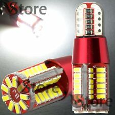 4 Lampade Red Style LED T10 LED Canbus 57 SMD 3014 NO Errore BIANCO Posizione W5