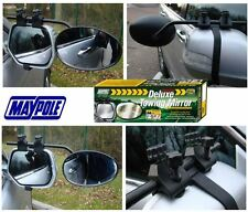 New Maypole 8327 Universal Convex Glass Deluxe Car Caravan Towing Mirror