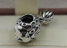 Genuine PANDORA Fish Silver and Blue Topaz Charm  791108TPP