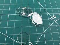 32mm Clear Acrylic Bases Wargames Role Play 10 Bases 2mm Thick.