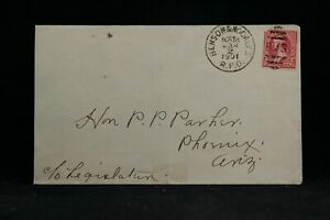 RPO: Benson & Nogales 1901 Cover, Arizona Territorial Railroad