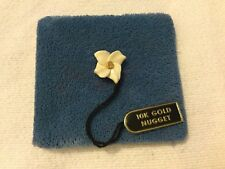 Rare Vintage Flower Pin Brooch w/ 10K Gold Nugget Center
