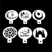 Ramadan Eid Mubarak lampe Design Kaffee Schablonen Kuchen Vorlage Werkzeug CJ
