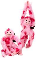 Plush Hanging Monkey Pink Soft Toy Plush Gift Kids Furry Lovely Animal Jungle