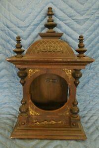 Wood Frame Box Pendulum Mantle Clock Door NEX PROJECT AS IS PARTS