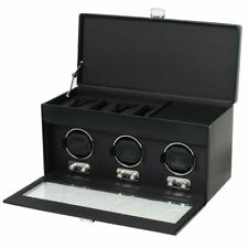 Wolf Heritage 270202 - Triple Automatic Watch Winder for 3 Watches