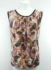 Nine West Women Shirt, Size X-Large, multi color, polyester, spandex