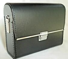 Black Leather Look Binocular Case 40mm  Solid Construction New Old Stock  (G522)