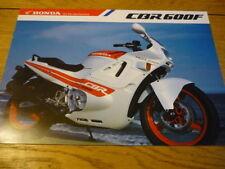 Brochures Paper CBR Honda Motorcycle Manuals & Literature