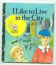 I Like to Live in the City LGB little golden book Vintage 1972