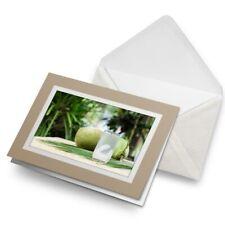 Tarjeta De Saludos (Biege) - Jugo de Coco joven natural de agua #21365